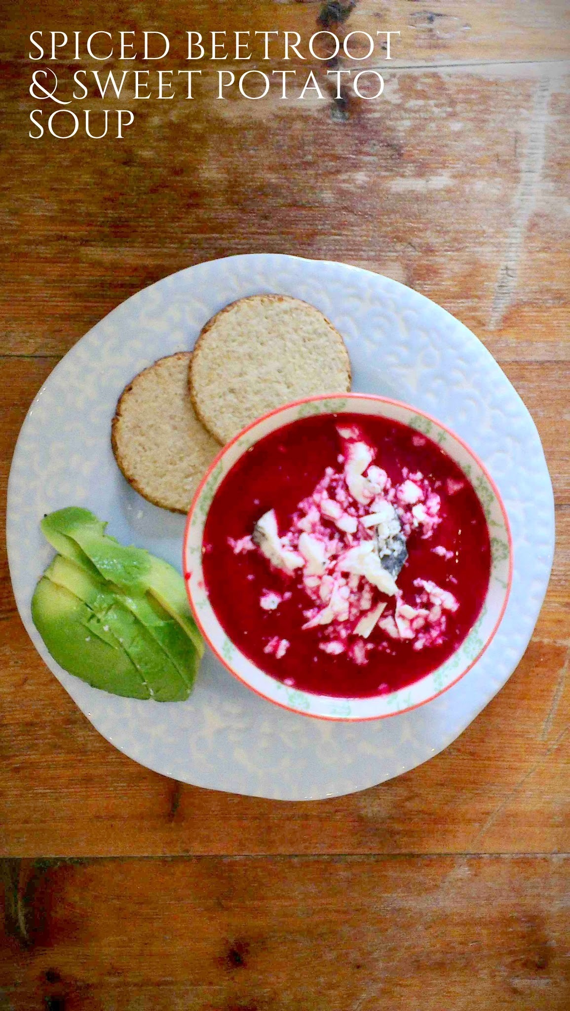 Spiced beetroot and sweet potato soup