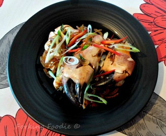 Crab claws with Chilli, Ginger, Garlic and Spring Onion