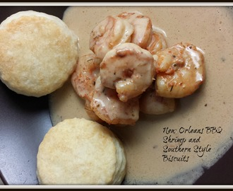 New Orleans BBQ Shrimp and Southern Style Biscuits