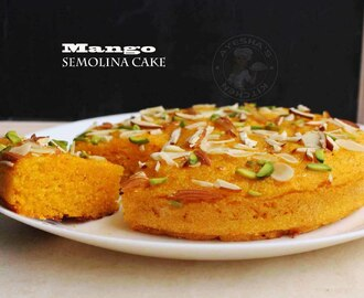MANGO SEMOLINA CAKE RECIPE - EGG FREE CAKE / STOVE TOP RECIPES