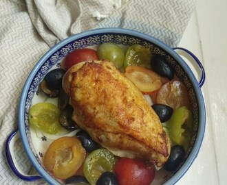 Chicken Roasted With Brown Butter and Plums
