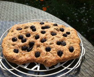 Wholemeal Olive Focaccia