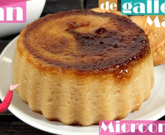 Flan de galletas María al microondas en 15 minutos. - YouTube