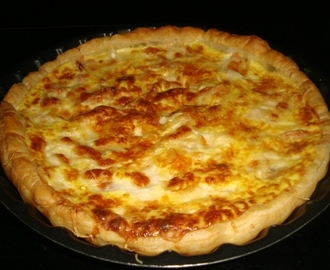 Quiche au saumon fumé/mozzarella/emmental