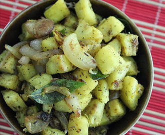 Raw Banana Roast (Ghee Pepper roasted Plantain)