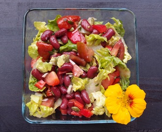 Red kidney bean and tomato salad