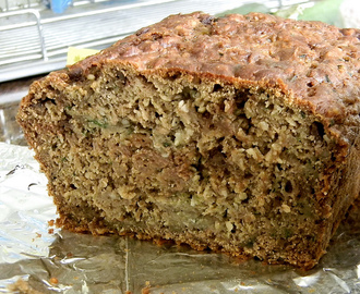 Chocolate, Blueberry and Hemp Zucchini Bread