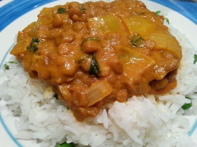 Easy lentil and coconut curry