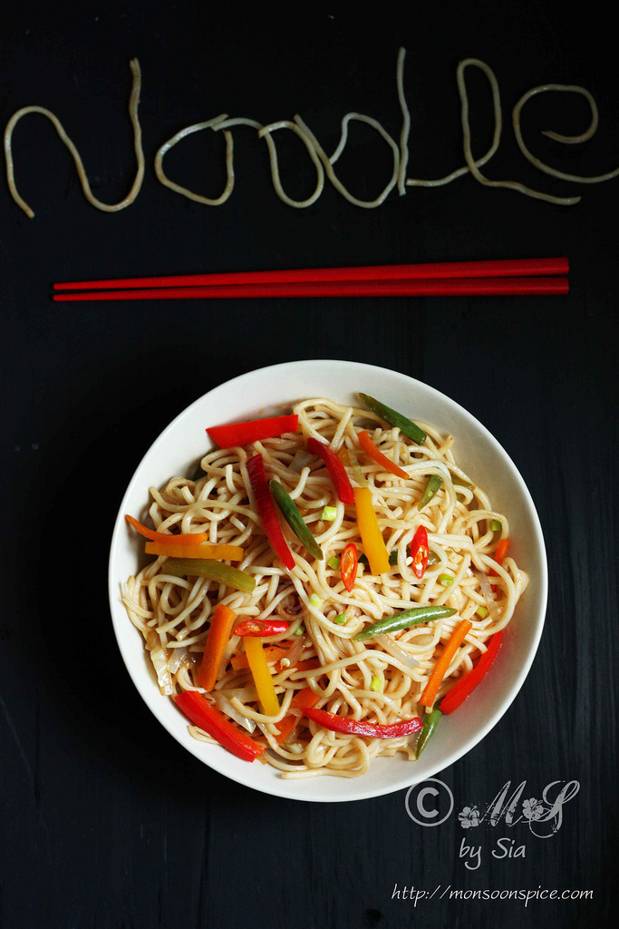 Vegetable Hakka Noodles Recipe | Indo-Chinese Veg Hakka Noodles Recipe