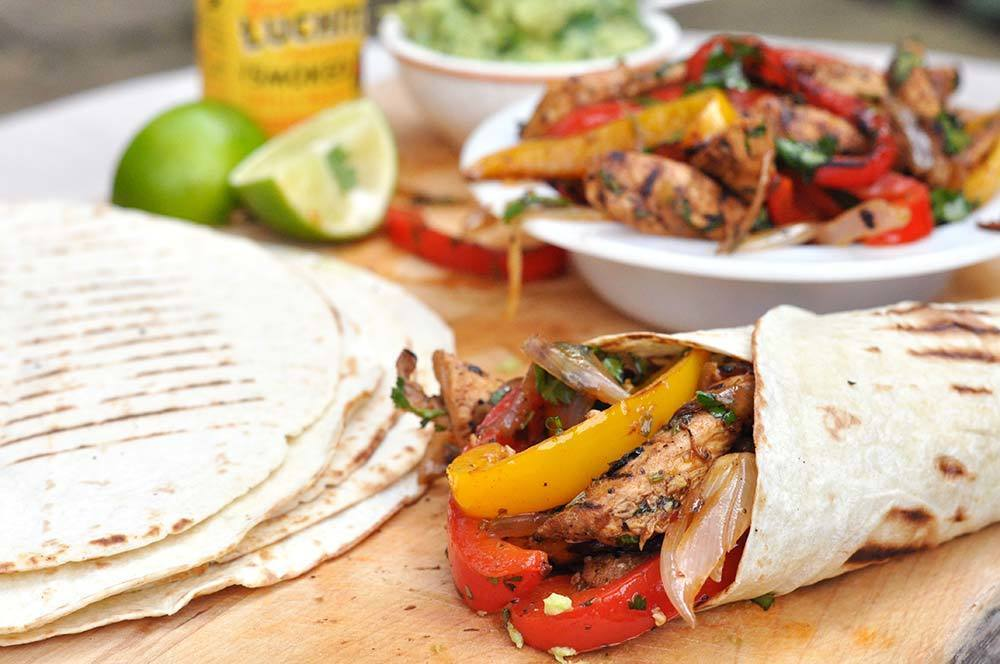 Smoked Chilli Chicken Fajitas