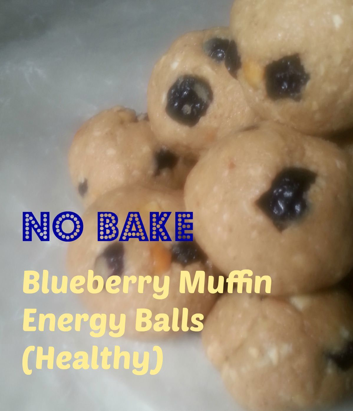 No Bake Blueberry Muffin EnergyBalls (Healthy)