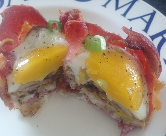 Bacon, Egg & Mushroom breakfast cups