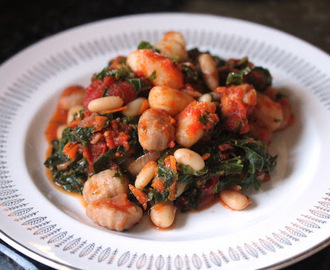 Vegan Pan Fried Gnocchi with Kale and White Beans