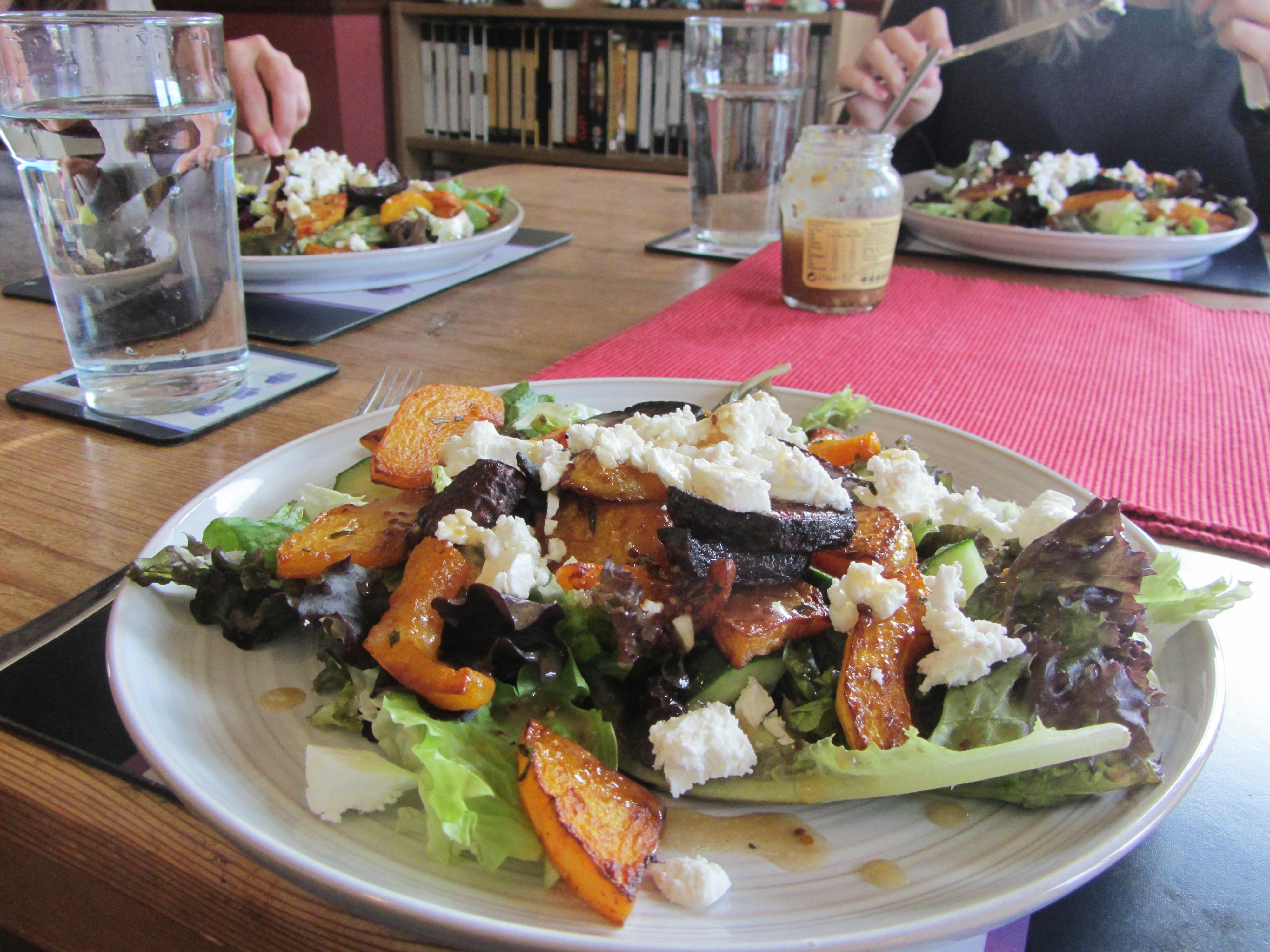 Roasted Squash and Beetroot Salad