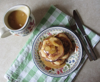 Scotch Pancakes with Butterscotch Apples