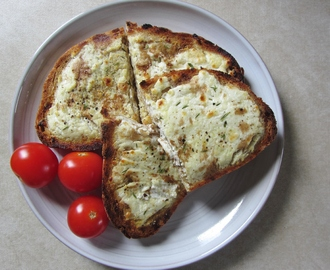 Goats' Cheese on Garlic Toast