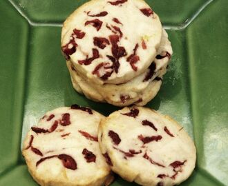 Cranberry Rum Shortbread Cookies