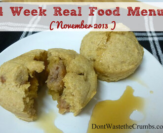4 Week Real Food Menu:  November 2013 (Plus a review of the cookbooks and meal planning resources in the UHL bundle)