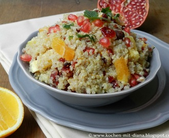 Quinoa Salat mit Preiselbeeren und Orangen/ Quinoa salad with cranberries and oranges
