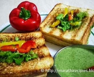 Triple Vegetable Grilled Sandwich