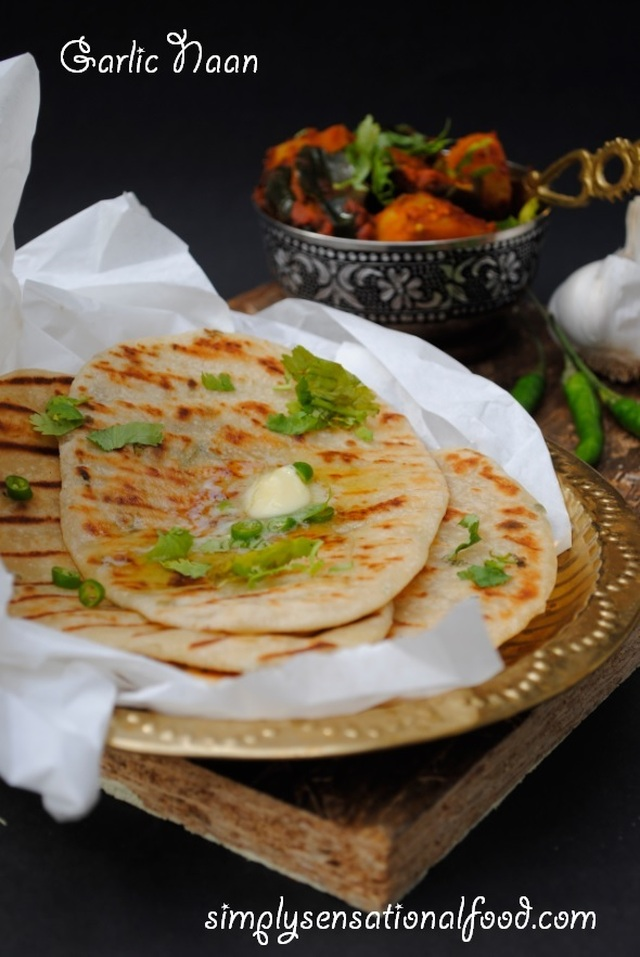 Garlic Naan~Secret recipe club challenge 21st Sept 2015