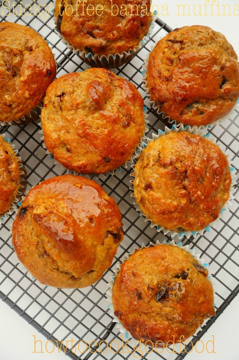 Sticky Toffee Banana Muffins