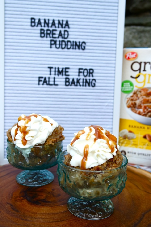Banana Bread Pudding with Great Grains® Banana Nut Crunch