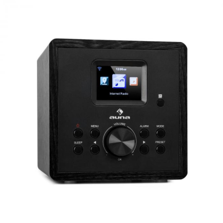 Radio Gaga 2.0 internetradio DAB+/FM, BT, WiFi, svart