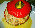 Stuffed Red Bell Peppers / Turkey Version