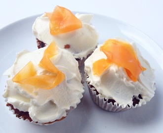 Carrot Cupcakes with Cream Cheese Frosting & Candied Carrots for National Cupcake Week 2015