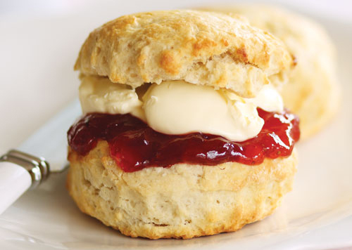 Classic Scones With Jam And Clotted Cream