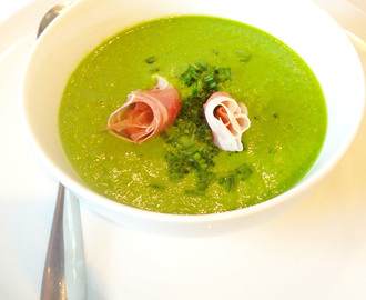 Chilled Pea, Spinach & Parma Ham Soup & #SuperSoup September/October Linky