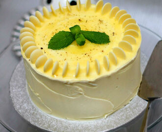 Lemon Curd, Ginger and White Chocolate Cardamom Cake