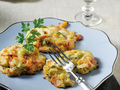 Baked fritters with leftover Festive season vegetables