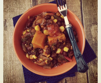 The Eat to Live Cookbook: Black Bean and Butternut Squash Chili