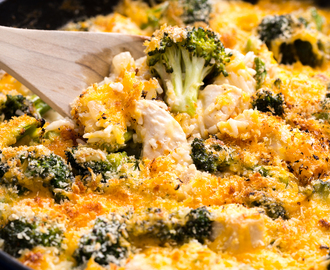 Cheesy Chicken Broccoli Bake