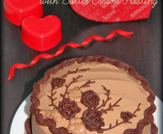 Chocolate Cake/ Chocolate Cake with Chocolate Butter Cream Frosting