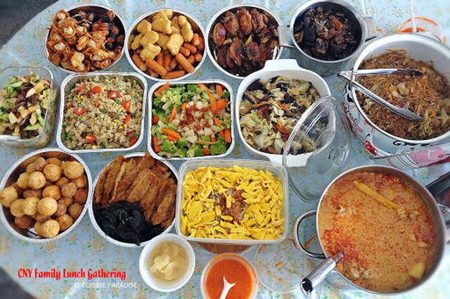 [With Recipes] 2014 Chinese New Year Lunch Gathering With Relatives