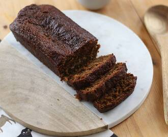My Sticky Gluten Free Gingerbread Loaf Cake Recipe (dairy free and LOW FODMAP)