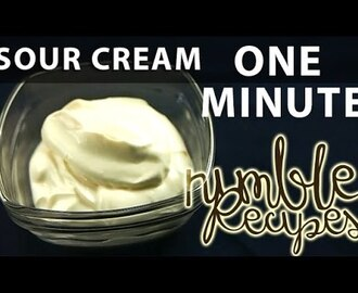 How to Make Sour Cream. In 1 minute