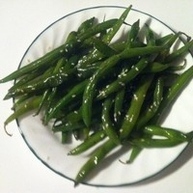 Green beans with sesame seeds: great vegan dish! Recipe