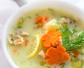EASY GREEK CHICKEN LEMON SOUP