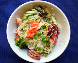 Jamie Oliver inspired watermelon and noodle salad
