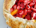 Strawberry & Peach Galette