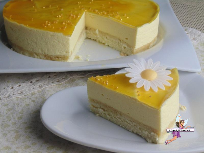 Entremet à la mangue et aux fruits de la passion