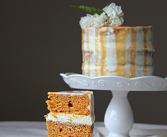 Pumpkin Cake with Dulce de Leche Cream Cheese Frosting