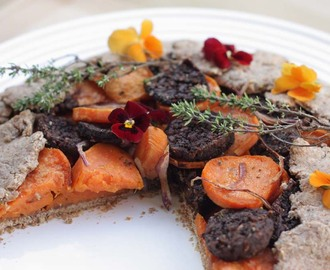 Vegan Black Pudding and Sweet Potato Spelt Flour Galette