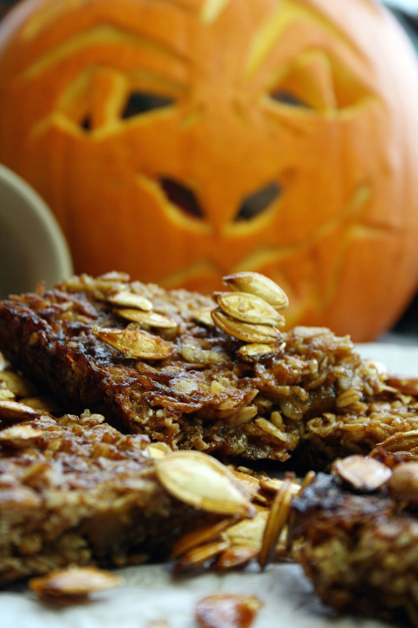 spiced pumpkin flapjacks