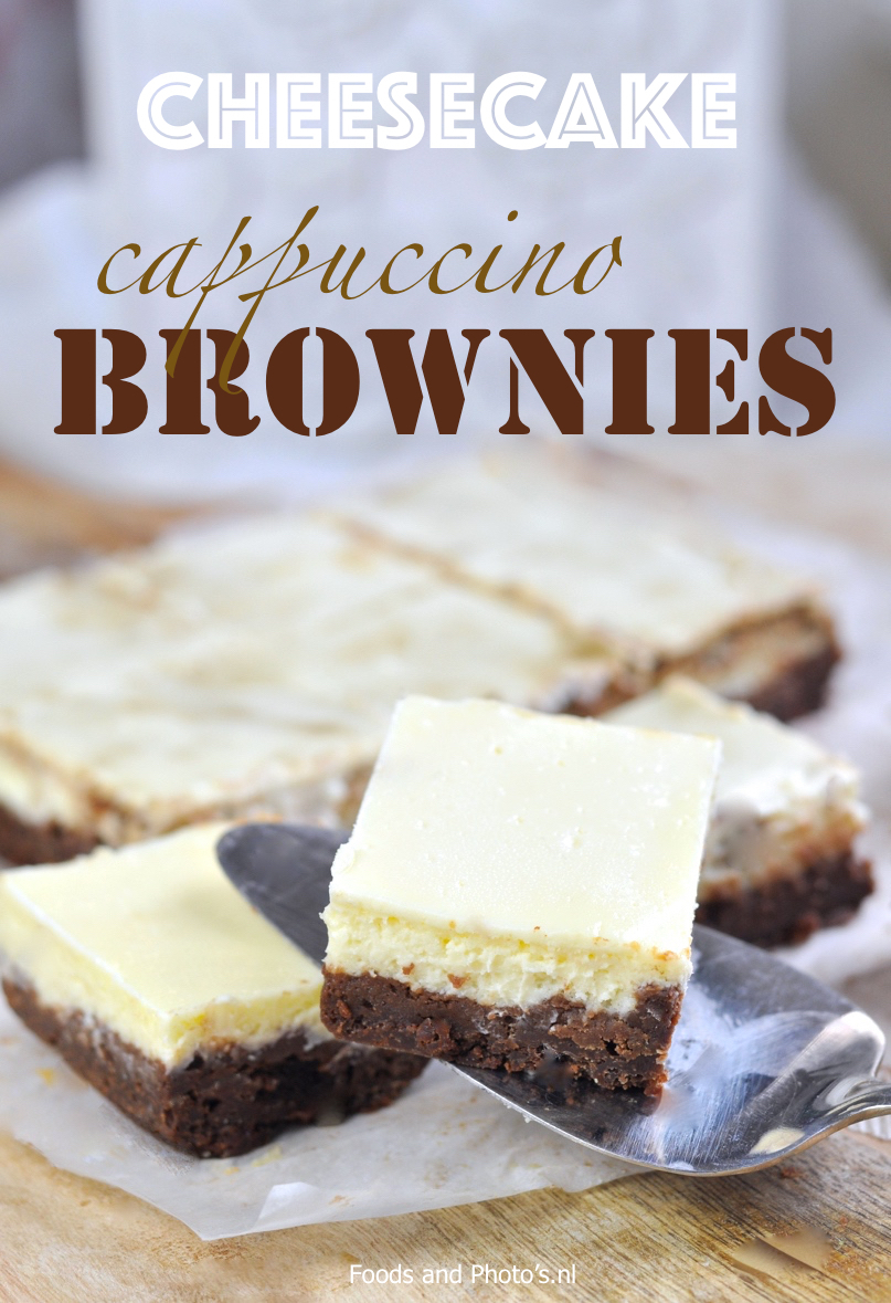 Cheesecake cappuccino brownies