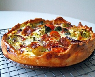 Vegetarische quiche met broccoli - Focus on Foodies